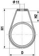 Обозначение размеров подвеса для труб ПТ 2 ½